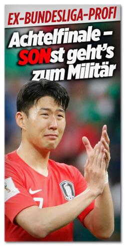 Screenshot Bild.de - Ex-Bundesliga-Profi - Achtelfinale, sonst geht's zum Militär