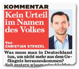 Ausriss Bild-Zeitung - Kein Urteil im Namen des Volkes