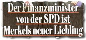 """""""Der Finanzminister von der SPD ist Merkels neuer Liebling"""""""