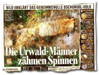 """""""Die Urwald-Männer zähmen Spinnen"""""""