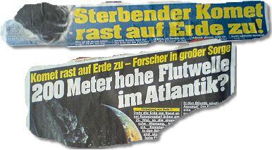 Komet rast auf Erde zu - Forscher in großer Sorge: 200 Meter hohe Flutwelle im Atlantik?