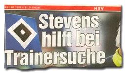 """""""Stevens hilft bei Trainersuche"""""""