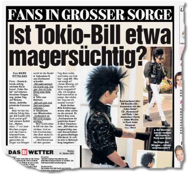 Ist Tokio-Bill etwa magersüchtig?