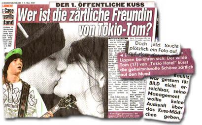 """Tokio Hotel: """"Der 1. öffentliche Kuss - Wer ist die zärtliche Freundin von Tokio-Tom?"""""""