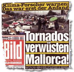 Klima-Forscher warnen: Das war erst der Anfang / Tornados verwüsten Mallorca!