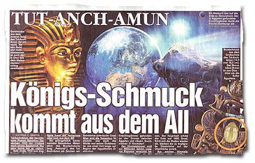 """""""Tut-Anch-Amun - Königs-Schmuck kam aus dem All"""""""