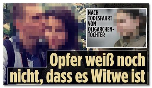 Screenshot Bild.de - Nach Todesfahrt von Oligarchen-Tochter - Opfer weiß noch nicht, dass es Witwe ist