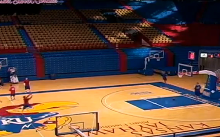 Basketball-Trickshot ohne Ball