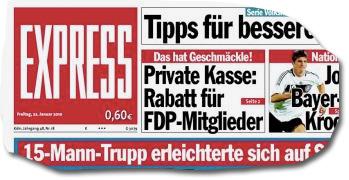 Titelseite 'Express' vom 22.1.2010