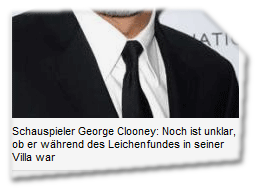 Schauspieler George Clooney: Noch ist unklar, ob er während des Leichenfundes in seiner Villa war