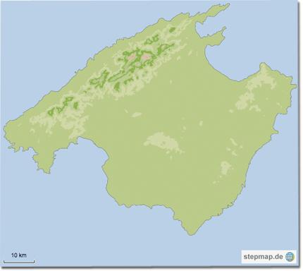 Karte von Mallorca auf stepmap.de