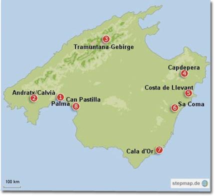 Karte von Mallorca auf bild.de
