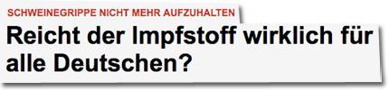 Reicht der Impfstoff wirklich für alle Deutschen?