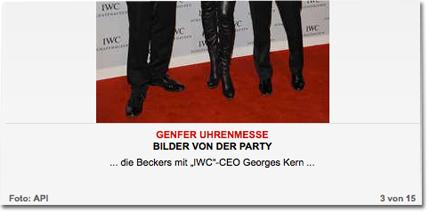 """... die Beckers mit """"IWC""""-CEO Georges Kern ..."""