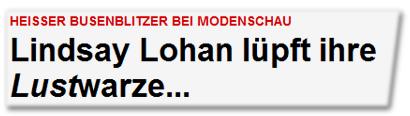 Lindsay Lohan lüpft ihre Lustwarze...