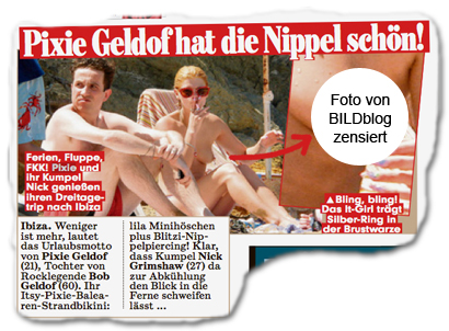 Pixie Geldof hat die Nippel schön!