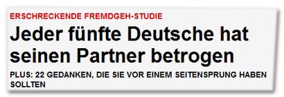 Jeder fünfte Deutsche hat seinen Partner betrogen