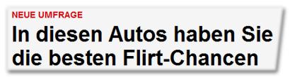 In diesen Autos haben Sie die besten Flirt-Chancen