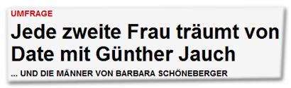 Jede zweite Frau träumt von Date mit Günther Jauch