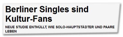 Berliner Singles sind Kultur-Fans
