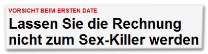 Lassen Sie die Rechnung nicht zum Sex-Killer werden