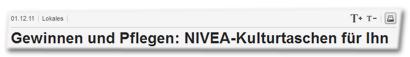 Gewinnen und Pflegen: NIVEA-Kulturtasche für Ihn