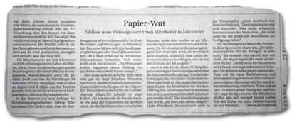 Papier-Wut: Zahllose neue Weisungen erzürnen Mitarbeiter in Jobcentern