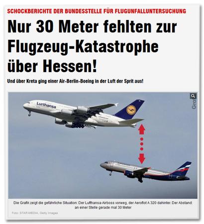 Nur 30 Meter fehlten zur Flugzeug-Katastrophe über Hessen!