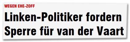 Wegen Ehe-Zoff: Linken-Politiker fordern Sperre für van der Vaart