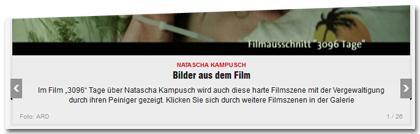 """Im Film """"3096"""" Tage über Natascha Kampusch wird auch diese harte Filmszene mit der Vergewaltigung durch ihren Peiniger gezeigt. Klicken Sie sich durch weitere Filmszenen in der Galerie"""
