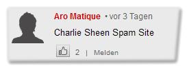 [Kommentar:] Charlie Sheen Spam Site