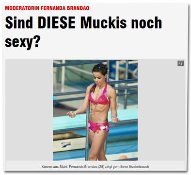Moderatorin Fernanda Brandao - Sind DIESE Muckis noch sexy?