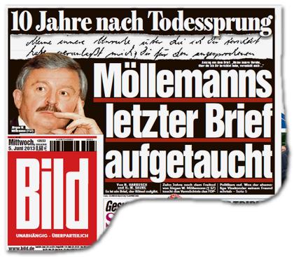10 Jahre nach Todessprung - Möllemanns letzter Brief aufgetaucht