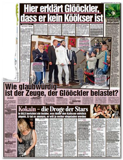 hier erklärt Glööckler, dass er kein Köökser ist - Der Weg der Droge nach Deutschland - Wie glaubwürdig ist der Zeuge, der Glööckler belastet? - Kokain - die Droge der Stars - In BILD berichtet ein insider, was hinter den Kulissen wirklich abgeht. Er tut es anonym, er will ja weiter eingeladen werden