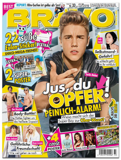 "Ausriss: ""Bravo"", Nr. 33 vom 7. August 2013"