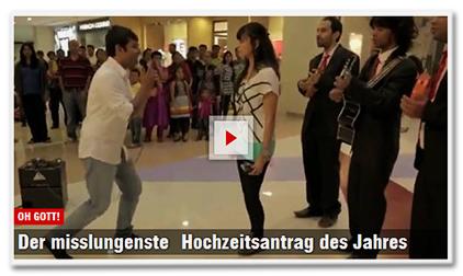 [Video] Oh Gott! - Der misslungenste Hochzeitsantrag des Jahres
