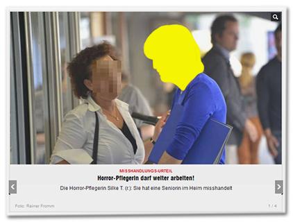 Misshandlungs-Urteil - Horror-Pflegerin darf weiter arbeiten! - Die Horror-Pflegerin Silke T. (r.). Sie hat eine Seniorin im Heim misshandelt