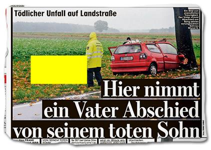 Tödlicher Unfall auf Landstraße - Hier nimmt ein Vater Abschied von seinem toten Sohn