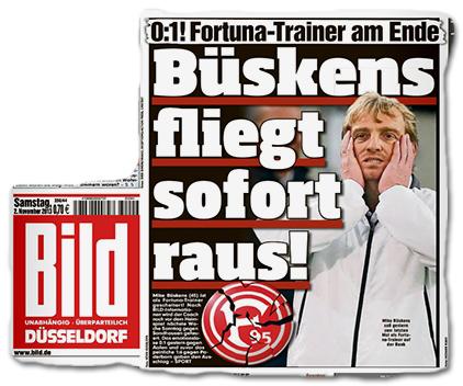 0:1! Fortuna-Trainer am Ende - Büskens fliegt sofort raus!