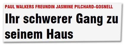 Paul Walker Freundin Jasmine Pilchard-Gosnell - Ihr schwerer Gang zu seinem Haus