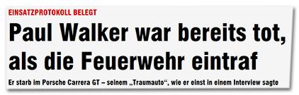 """Einsatzprotokoll belegt - Paul Walker war bereits tot, als die Feuerwehr eintraf - Er starb im Porsche Carrera GT - seinem """"Traumauto"""", wie er einst in einem Interview sagte"""