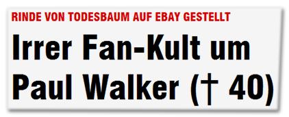 Rinde von Todesbaum auf Ebay gestellt - Irrer Fan-Kult um Paul-Walker († 40)