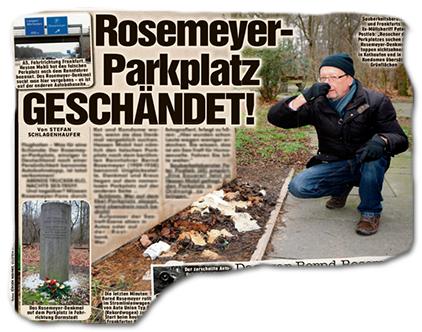 Rosemeyer-Parkplatz GESCHÄNDET!
