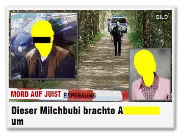 Mord auf Juist - Dieser Milchbubi brachte A[...] um [Auf dem Foto sind der mutmaßliche Täter [anonymisiert] und das angebliche Opfer [nicht anonymisiert] zu sehen.]