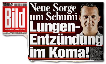 Neue Sorge um Schumi - Lungen-Entzündung im Koma!