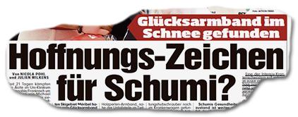 Glücksarmband im Schnee gefunden - Hoffnungs-Zeichen für Schumi?