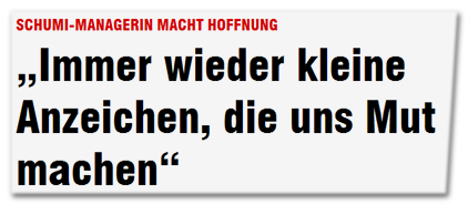 """Schumi-Managerin macht Hoffnung - """"Immer wieder kleine Anzeichen, die uns Mut machen"""""""