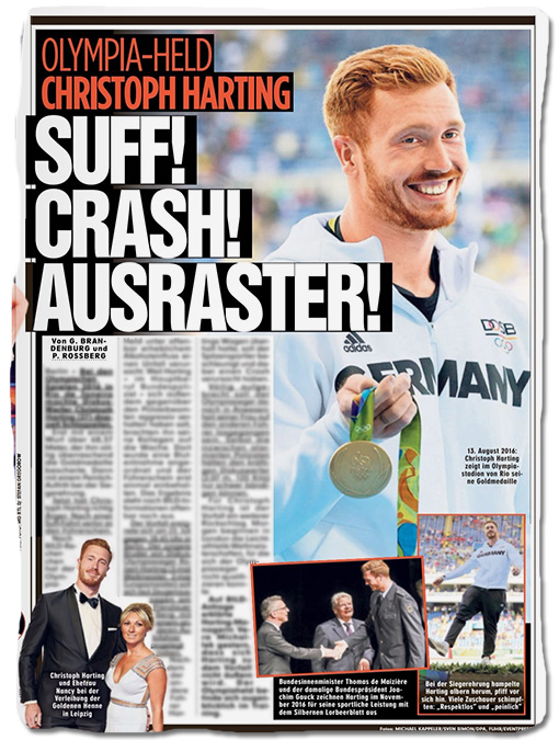 OLYMPIA-HELD CHRISTOPH HARTING - SUFF! CRASH! AUSRASTER!