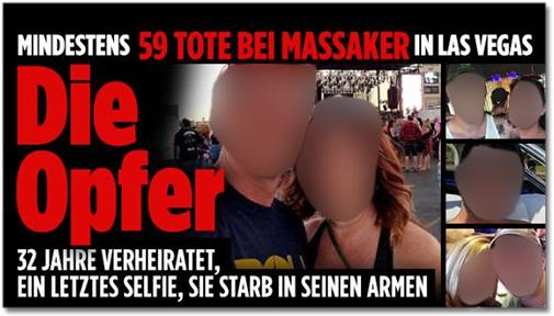 Mindestens 59 Tote bei Massaker in Las Vegas - Die Opfer - 32 Jahre verheiratet, ein letztes Selfie, sie starb in seinen Armen [dazu mehrere Porträtfotos von Opfern des Massakers]