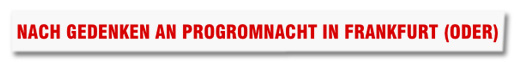Screenshot Bild.de - Nach Gedenken an Progromnacht in Frankfurt (Oder)